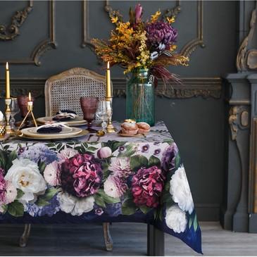 Набор столовый (скатерть и 12 салфеток) Цветочный этюд Этель
