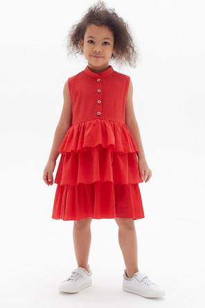 Платье с воланами Cotton collection Minaku