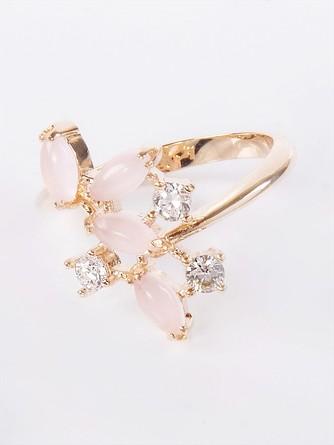 Кольцо с розовым кварцем Искристые лепестки Lotus jewelry
