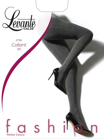 Колготки E736 60 den 3D (2 шт.) Levante