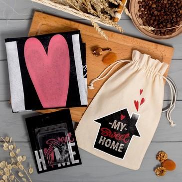 Набор в мешочке Home (полотенце и формочки для печенья) Этель
