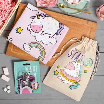 Набор в мешочке Kitchen star (полотенце и формочки для печенья) Этель