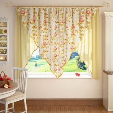 Кухонные шторы Уголок Arco Doro