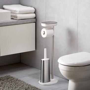 Набор держатель для туалетной бумаги с подносом EasyStore + ёршик для унитаза Flex™ Joseph Joseph