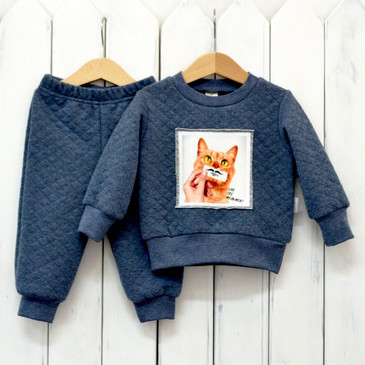 Комплект Котоселфи (джемпер и брюки) Baby Boom