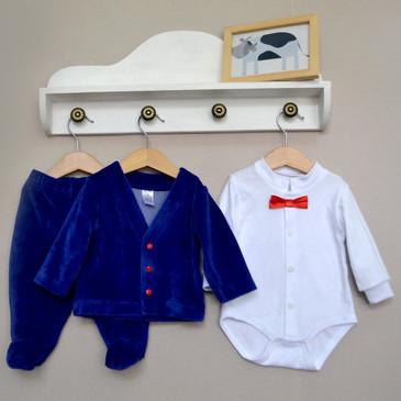 Комплект (кардиган, боди и ползунки) Дресс-код Baby Boom