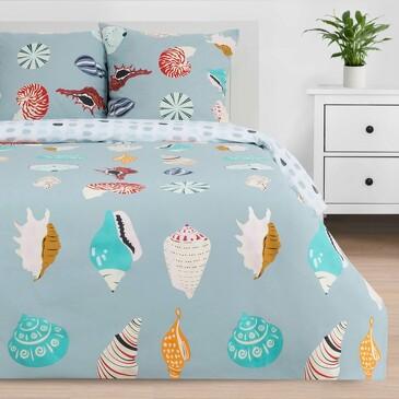 Комплект постельного белья Sea shell, поплин Этель