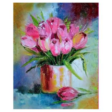 Алмазная картина и раскраска. Дыхание весны Color Kit