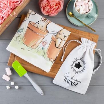 Набор подарочный (полотенце и лопатка) Со светлой пасхой Этель