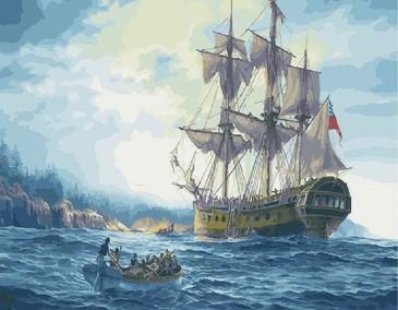 Картина по номерам на подрамнике. Британский корабль ВанГогВоМне