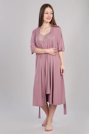 Комплект (сорочка, халат, пояс) Dianida