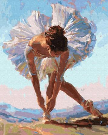 Картина по номерам на подрамнике. Балерина на утесе ВанГогВоМне