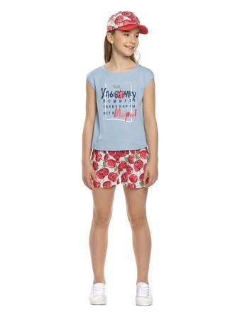 Комплект для девочек(футболка и шорты) Pelican