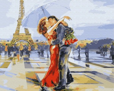 Картина по номерам на подрамнике. Любовь Парижа ВанГогВоМне