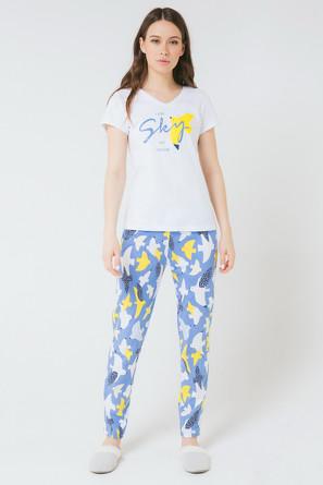 Комплект женский Морские чайки (футболка и брюки) Trikozza