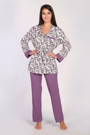 Пижама (кофта, брюки, пояс) Dianida