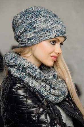 Комлект (шапка, шарф-кольцо) Amore 1 Gulyann