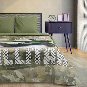 Комплект постельного белья Military, поплин Этель
