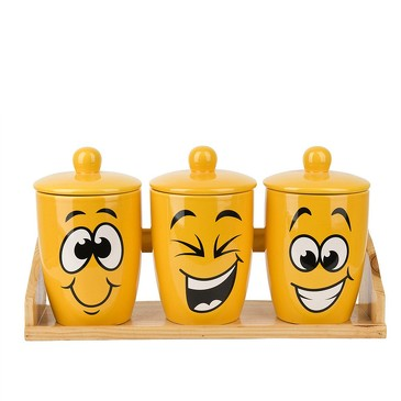 Банка для сыпучих продуктов Smile (3 шт.), 550 мл Dolomite