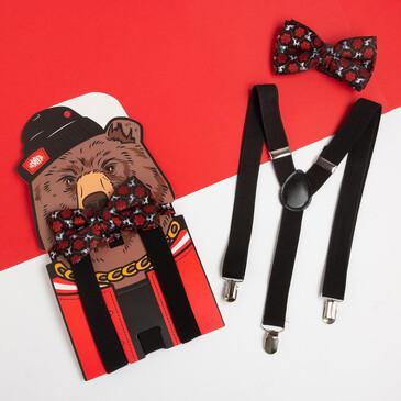 Набор (подтяжки и галстук-бабочка) Медведь Kaftan