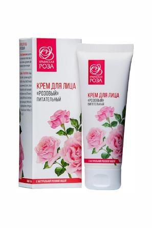Крем розовый питательный Роза (75 мл) Крымская Роза