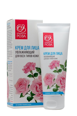 Крем увлажняющий для всех типов кожи Роза (75 мл) Крымская Роза