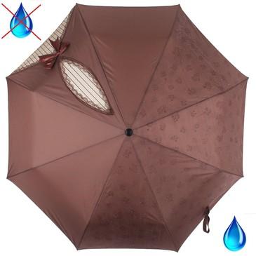Зонт автомат 3 сложения с проявляющимся рисунком Flioraj