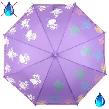 Детский зонт трость с проявляющимся рисунком Воздушные феи Flioraj
