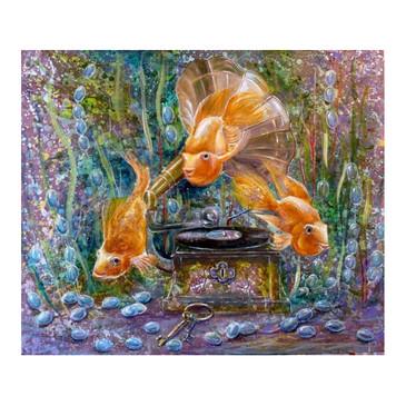 Алмазная картина на подрамнике. Симфония океана Color Kit