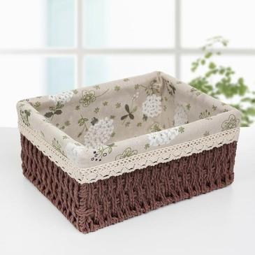 Корзина для хранения плетеная Полянка Доляна