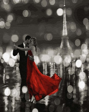 Картина по номерам на подрамнике. Танцующий Париж ВанГогВоМне