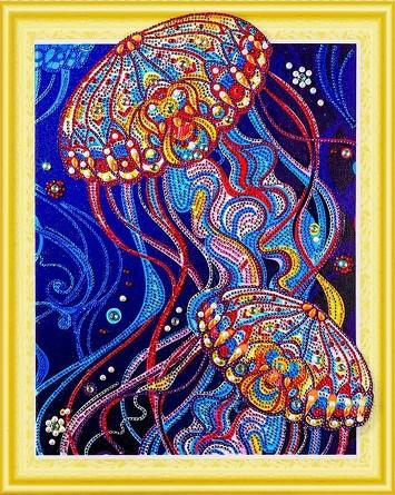 Алмазная картина с фигурными стразами. Сокровища океана Color Kit
