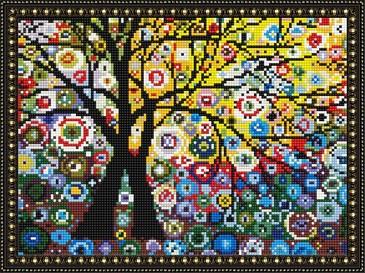 Алмазная мозаика. Дерево жизни ВанГогВоМне