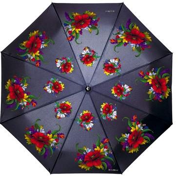 Зонт автомат Русские мотивы цветы Flioraj