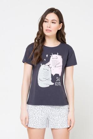 Комплект Милые монстры (футболка и шорты) Trikozza