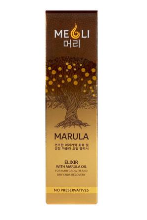 Эликсир с маслом Марулы для роста волос и восстановления сухих кончиков,  60 мл  Meoli