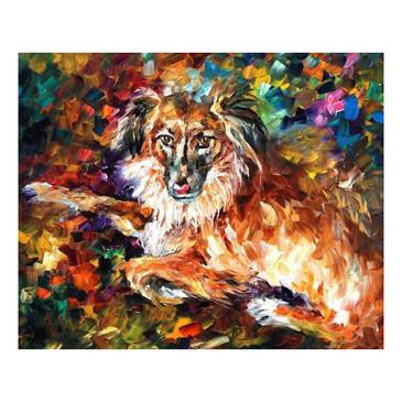 Алмазная картина и раскраска. Породистый пес  Color Kit