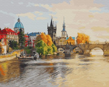 Картина по номерам на подрамнике. Прага в лучах солнца ВанГогВоМне