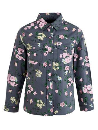 Блузка длинный рукав Button Blue