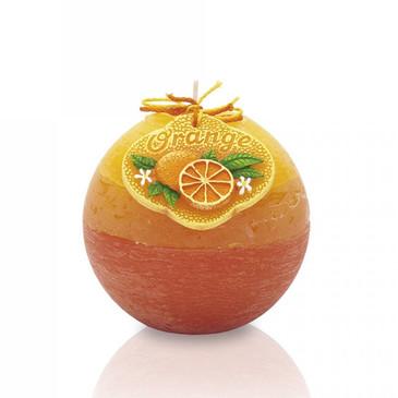 Декоративная Свеча Апельсин шар Bartek-Candles