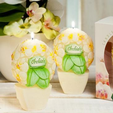 Декоративная Свеча Букет Орхидей фигурка Bartek-Candles