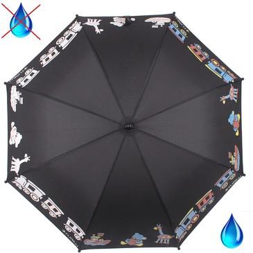 Детский зонт трость с проявляющимся рисунком Веселая карусель Flioraj