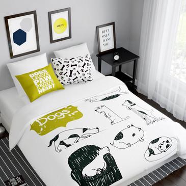 Комплект постельного белья История собак Сирень