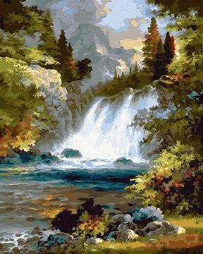 Картина по номерам на подрамнике. Шум водопада ВанГогВоМне