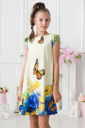 Платье Бабочки-Цветы  Красавушка