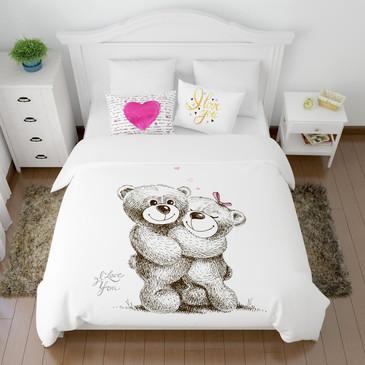 Комплект постельного белья Сладкая парочка Сирень
