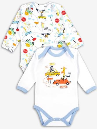 Комплект боди (2 шт.) Такси Веселый малыш
