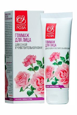 Гоммаж для сухой и чувствит. кожи Роза (75 мл) Крымская Роза