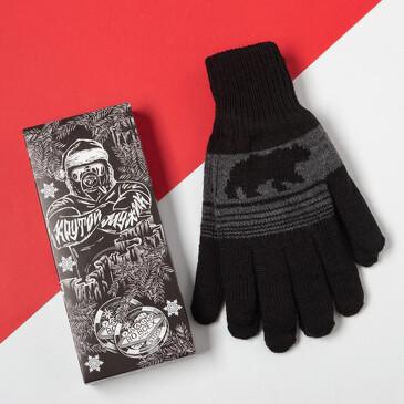 Перчатки в подарочной коробке Крутой мужик Kaftan