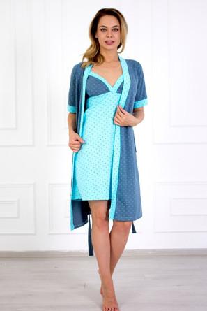 Комплект (сорочка и халат) Элиза